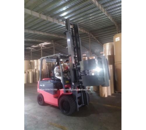 Xe nâng điện 3 tấn quặp giấy 360 độ - Nichiyu FB30P Forklift Paper Roll Clamp 360%