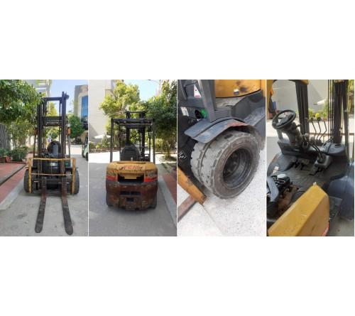 Xe nâng 2.5 tấn 4 mét số sàn lốp kép - TCM FD25C3 TD27 VM400 Clutch - 2007 - Xe nâng cũ nhập Nhật