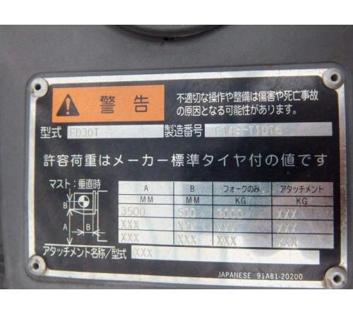 XE NÂNG CŨ 3 TẤN - MITSUBISHI - MODEL FD30T - SẢN XUẤT NHẬT BẢN 2010
