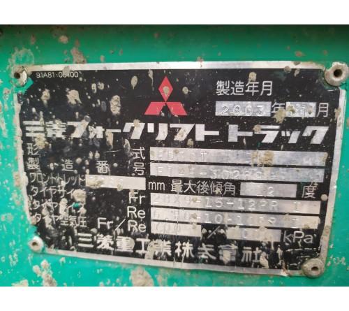 Xe nâng 3 tấn giá rẻ - Mitsubishi FD30T - Nhập Nhật - Kiểm đỏ - Cao nâng 4 mét