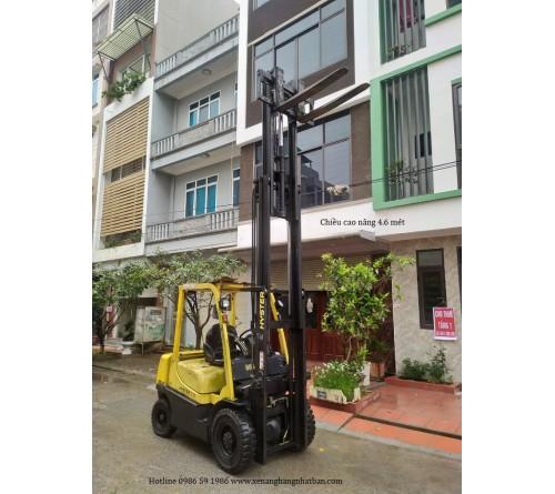 Xe nâng 2.5 tấn 4.5 mét chui công dịch giá - Hyster H2.5XT Yanmar 4TNE92 - SX Nhật Bản 2009
