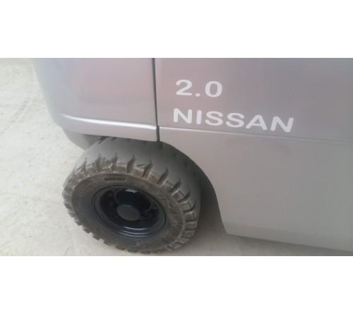Xe nâng cũ 2 tấn Nissan đời cao T12/2009, model P1F2A20D