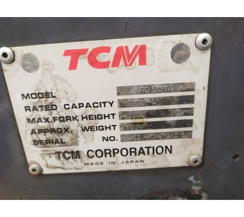 Xe nâng 5 tấn giá rẻ - TCM FD50T9 S6S - Xe nâng cũ 5 tấn